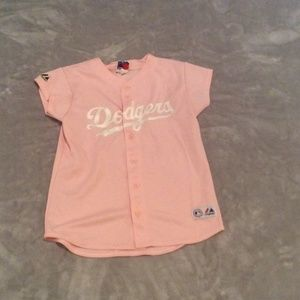 Tops - Pink DODGERS  shirt size S